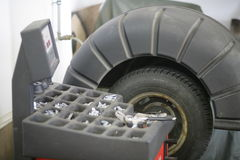 Tire tyre change Stock Images