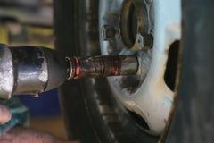 Tire tyre change Stock Photo