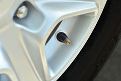 The tire valve cap. Royalty Free Stock Photography