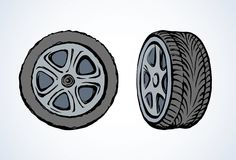 Tire. Vector drawing Royalty Free Stock Photo