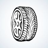 Tire. Vector drawing Royalty Free Stock Image