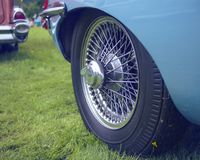 Tire of a vintage car royalty free stock images