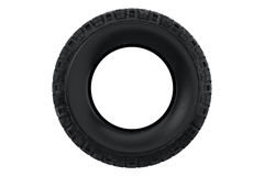Tire wheel car, front view. Tire black dirt wheel car, front view. 3D rendering Royalty Free Stock Photography