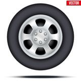 Tire and wheel of car. Vector Illustration Stock Photography