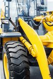 Tire wheel of the tractor or other construction equipment Stock Photo