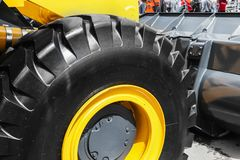 Tire wheel of the tractor or other construction equipment Royalty Free Stock Photo