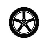 Tire and wheel Royalty Free Stock Images