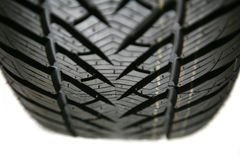 Tire on white background Stock Photo