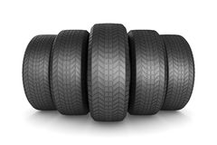 Tire on white background. Isolated 3D illustration.  Stock Photography