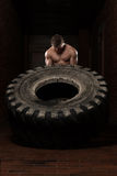 Tire Workout Exercise Royalty Free Stock Photography