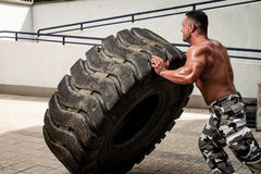 Tire Workout Royalty Free Stock Image