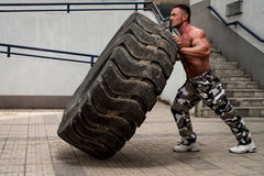 Tire Workout Stock Image