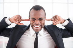 Tired of it all. Royalty Free Stock Photography