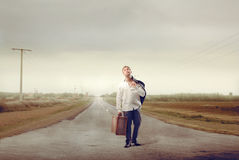 Tired Arrival Royalty Free Stock Photo