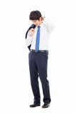 A tired Asian business man Royalty Free Stock Images