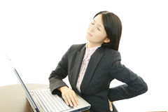 Tired Asian business woman Stock Images