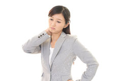 Tired Asian business woman Stock Photos