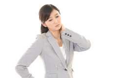 Tired Asian business woman Stock Image