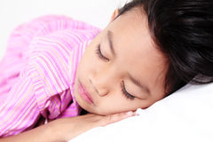 Sleeping Young Girl Stock Images