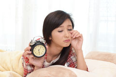 Tired Asian woman Stock Photos