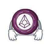 Tired Augur coin mascot cartoon. Vector illustration Stock Photos