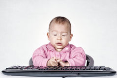 Tired baby Stock Image