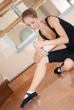 Tired ballerina with bottle Stock Image