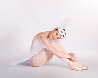 Tired ballet dancer Royalty Free Stock Photography