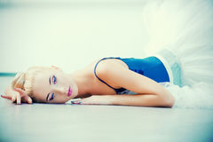 Tired ballet dancer Royalty Free Stock Images