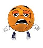 Tired Basketball ball cartoon Stock Photography