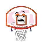 Tired basketball hoop cartoon Stock Image