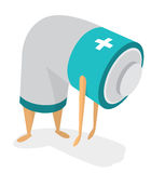 Tired battery with no energy Royalty Free Illustration