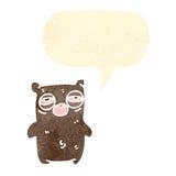 Tired bear retro cartoon Stock Photo