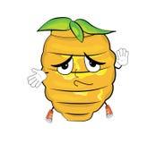 Tired beehive cartoon Stock Photo