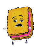 Tired Biscuit cartoon. Vector illustration of tired biscuit cartoon Royalty Free Stock Images