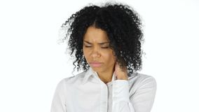 Tired Black Woman with Neck Pain