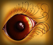 TIRED BLOODSHOT EYE Royalty Free Stock Photos
