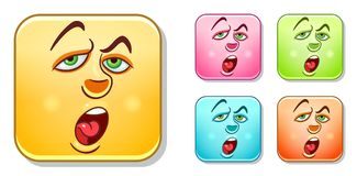Bored Emoticons Collection Stock Image