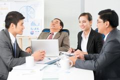 Tired boss Royalty Free Stock Photo
