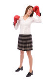 Tired of boxing Stock Image