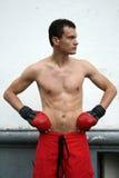 Tired Boxing Man Royalty Free Stock Image