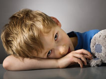 Tired boy Royalty Free Stock Photos