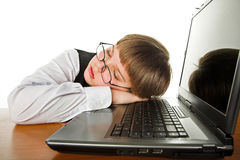 Tired boy Royalty Free Stock Photography