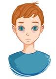 Tired boy needs sleep. Sleep not found. Vector illustration. Art creative Royalty Free Stock Images