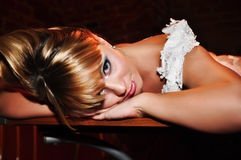 The tired bride Royalty Free Stock Photography