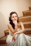 Tired bride Royalty Free Stock Photo