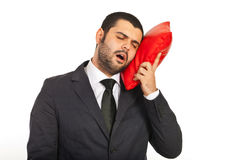 Tired business man Stock Image