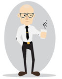 Tired Business Man Cartoon Illustration Royalty Free Stock Image