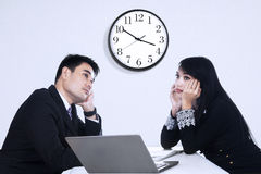 Tired business people Royalty Free Stock Image