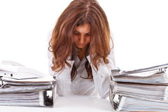 Tired business woman Royalty Free Stock Photos
